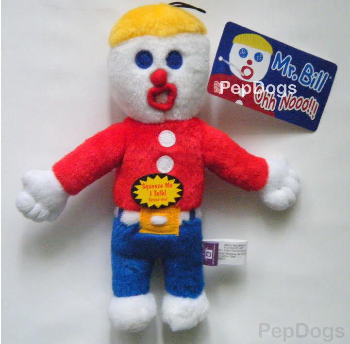 "Multipet Mr. Bill Plush Dog Sound Toy Talking ""Ohh Noo"""